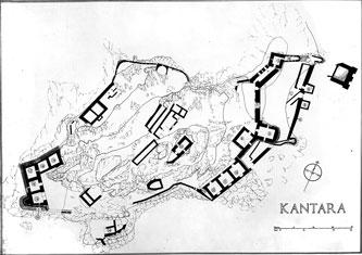 Φρούριο Καντάρας: Σχέδιο κάτοψης