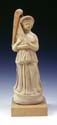 Terracotta figurine of a woman holding a harp