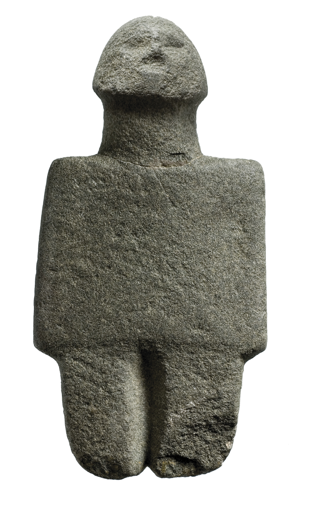 """ANCIENT CYPRUS: Cultures in Dialogue"" -Andesite anthropomorphic figurine, 7th-6th millennia BC,"