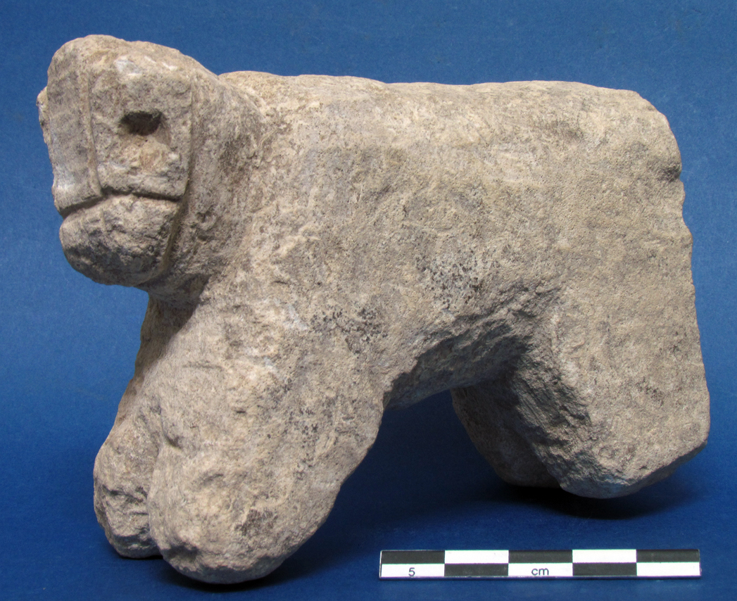Stone figurine from excavations at Dromolaxia-Vizakia, 2011