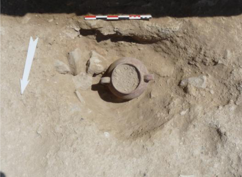 2011 excavations at Amathous Palace by the French School at Athens: Foundation pit